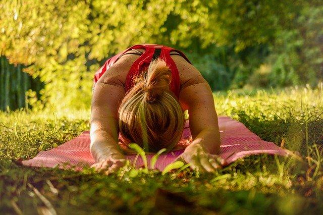 jóga v přírodě