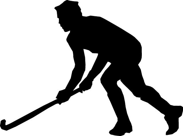 silueta hokejového brankáře